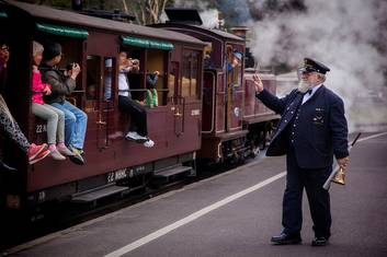 Station Master at Puffing Billy