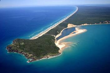 Aerial view of Fraser Island
