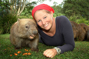 Up close with my Wombat friend