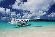 Seaplane at Whitehaven Beach